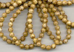 Round beads 6 mm picasso