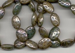 Fruit stones 17x13 mm shine / metal picasso