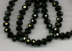 Rondells 9x6 mm green luster