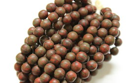 Round beads 8 mm matte/picasso