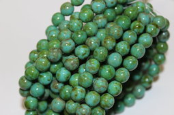 Round beads 8 mm picasso