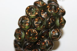 Flowers 14x11 mm antique shine/old patina