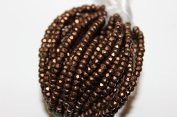 Rondells 3x2 mm matte/dark bronze