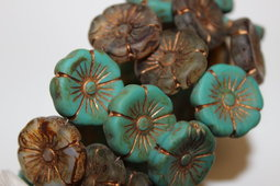 Hawaiian flowers 22 mm mix/matte/picasso/old patina