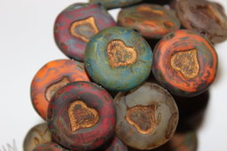Heart 21 mm mix/matte/picasso/old patina
