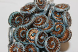 Fossils 17 mm shine/old patina