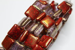 Rectangle 14x13 mm mix/shine/luster