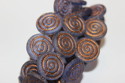 Ammonite fossils 18 mm matte/old patina