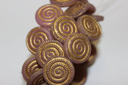 Ammonite fossils 18 mm matte/bronze