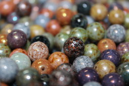 Round beads 10 mm mix/shine/luster