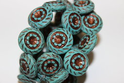 Flowers 18 mm matte/old patina