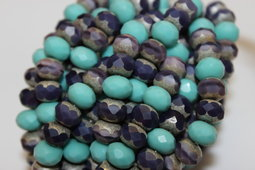 Rondells 9x6 mm mix/matte/clean/silver old patina