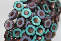 Flowers Hawaiian 14 mm mix/shine/bronze