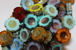 Flowers Hawaiian 14 mm mix/shine/picasso/bronze