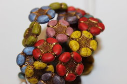 Flowers 18 mm mix/half matte/old patina