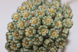 Hawaiian flowers 10 mm matte/bronze