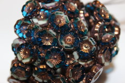 Hawaiian flowers 12 mm shine/combinations/bronze