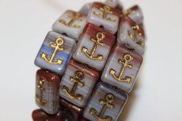 Anchor 15x13 mm mix/shine/combination/bronze