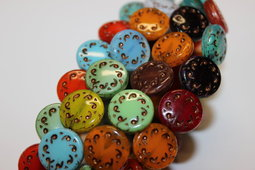 Wheel rustic 14 mm mix/shine/old patina